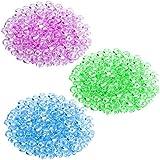 SUPVOX 3 Packs of Fishbowl Beads Plastic Vase Filler Beads for Slime Making (Light Purple + Fruit Green + Light Blue)