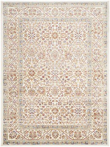 Safavieh Mabel gewebter Teppich, SEV813B, Elfenbein / Mehrfarbig, 121 X 170  cm