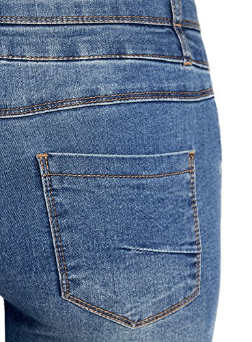 oodji Ultra Donna Jeans Skinny a Vita Alta Blu (7000W)