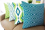 #2: Aart Multi color HD pattern design Printed Cushion Cover 16x16 (Set of 4) by Aart Store