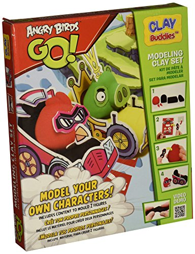 Clay Buddies 330586 – Manualidades – Starter Pack Angry Birds Go.