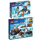 Lego CITY 2er Set 60192 60195 Arktis-Eiskran auf Stelzen + City Mobile Arktis-Forschungsstation