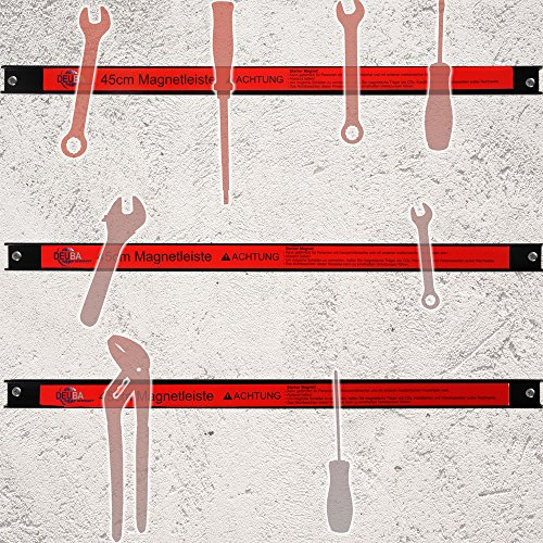 Deuba® Magnetleiste 60cm ✔23kg Tragkraft ✔Modellauswahl ✔Montagematerial Werkzeugleiste Messerleiste mit Modellauswahl Magnetleisten für Werkzeug - 3