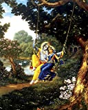 Faim Paintings Canvas Print Of Religious Art Radha Krishna leela - Frameless, 18x24 Inch best price on Amazon @ Rs. 599