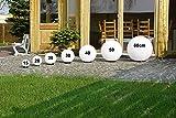 Kugelleuchten 3er SET, Gartenbeleuchtung 30 cm, 40cm & 50 cm Ø, Außenleuchten, weiße Gartenlampen, Innen & Außen, Gartenkugeln für Energiesparlampen E27 & LED - 230 V & 23W, Kugellampen mit IP44 für Kugelleuchten 3er SET, Gartenbeleuchtung 30 cm, 40cm & 50 cm Ø, Außenleuchten, weiße Gartenlampen, Innen & Außen, Gartenkugeln für Energiesparlampen E27 & LED - 230 V & 23W, Kugellampen mit IP44