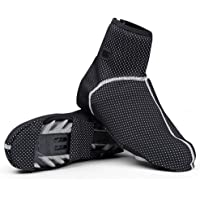 HONEYY Cycling Shoe Covers Cold-Proof and Waterproof Men's Bike Bicycle Shoe Covers Overshoes with Reflective Design…