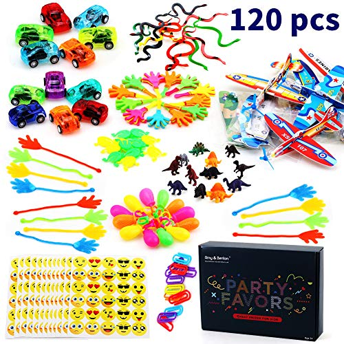Amy & Benton 120 di Giocattoli per Bambini, Bomboniere per Feste Forniture Ragazza Ragazzo Regalo di Compleanno Borse Bambini Premio Scuola di Carnevale, Articoli per Feste e Compleanni per Bambini