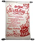 Happy Birthday Scroll Greeting Card