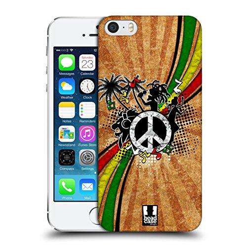 Head Case Designs Reggae Genre Musical Étui Coque D'Arrière Rigide Pour Apple iPhone 5 / 5s / SE Reggae