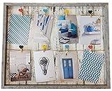 Spetebo Fotorahmen mit Leine - 52x42 cm inkl. 8 Herz Klammern - Bilderrahmen Foto Halter Galerie