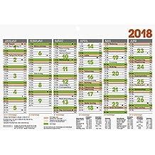 Brunnen 1070150 Tischkalender/Tafelkalender A 5 Modell 701 50, 1 Seite = 6 Monate, kräftiger Karton, Kalendarium 2018