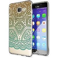 delightable24 Cover Case in Silicone TPU per Smartphone SAMSUNG GALAXY A5 (2016) - Mandala Turchese