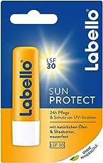 Labello Sun Protect im 4er Pack (4 x 9,6 g), wasserfester Lippenpflegestift mit Sonnenschutz (LSF 30), Lippenpflege ohne Mineralöle