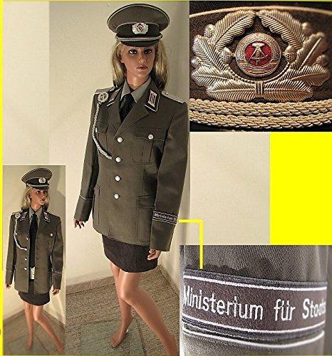 Uniform NVA ,Frauen, komplett mit Zubehör, Gr. 40, Mütze, Stasi, Effekten, Kostüm,...