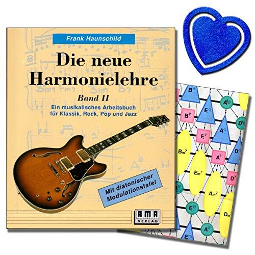 Die neue Harmonielehre 2 von Frank Haunschild - Ein musikalisches Arbeitsbuch für Klassik, Rock, Pop und Jazz - die Weiterführung der Neuen Harmonielehre mit herzförmiger Notenklammer - 610110