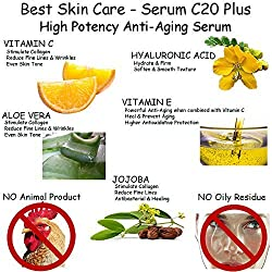 Best Vitamin-C Serum 20% Hyaluronic Acid 11% More: Boosts Plumpness & Elasticity, Hydrate & Firm: Experience Visibly Radiant, Smooth & Younger Skin BONUS