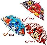 Unbekannt Kinder Regenschirm -  Disney Cars - Auto Lightning McQueen  - Kinderschirm - leicht transparent Ø 73 cm - Glockenschirm / Kinderregenschirm - Stockschirm - ..