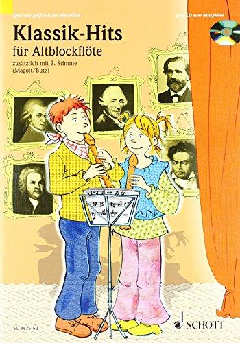 Klassik-Hits: 1-2 Alt-Blockflöten. Ausgabe mit CD. (Spiel und Spaß mit der Blockflöte) von Hans Magolt (Herausgeber), Rainer Butz (Herausgeber) (26. August 2003) Musiknoten