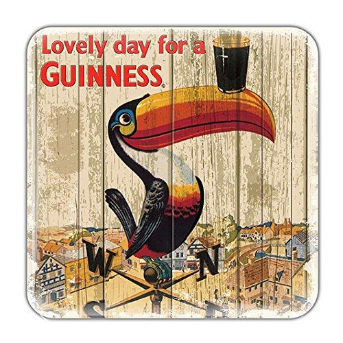 Nostalgischer Guinness-Magnet aus Epoxidharz mit Tukan auf Wetterfahne -