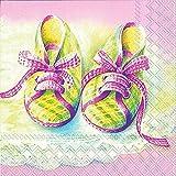 IHR Serviette Baby Shoes Rose 20 Stück