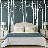 Set von 9Wandaufkleber Birke weiß Wandaufkleber Baum Kinderzimmer Big Baum Wand Aufkleber für Wohnzimmer
