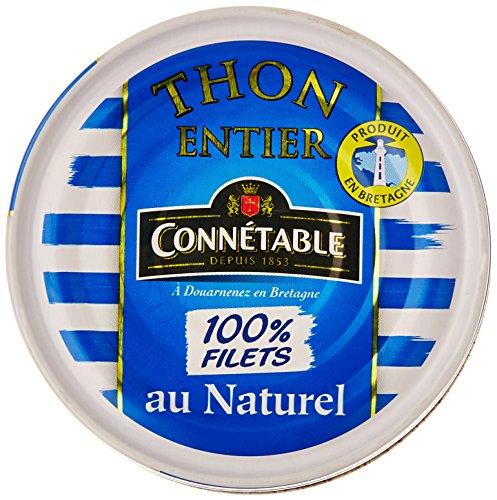 Connétable Thon entier au naturel 160 g - Lot de 7