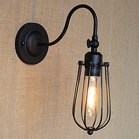 Z&MDH Wall lights American Country Living Room Horizontal Table Bedside