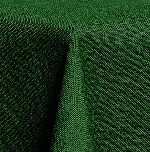 Maltex24 Textil Tischdecke - Leinen Optik - wasserabweisend Eckig 110x140 (Dunkelgrün, ca. 110 x 140 cm) -