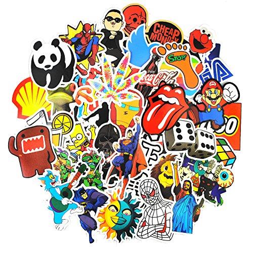 Preisvergleich Produktbild Neuleben Aufkleber Pack [150-pcs] Graffiti Sticker Decals Vinyls für Laptop, Kinder, Autos, Motorrad, Fahrrad, Skateboard Gepäck, Bumper Sticker Hippie Aufkleber Bomb wasserdicht