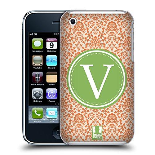 Head Case Designs Lettera R Lettere Cover Retro Rigida per Apple iPhone 7 / 8 Lettera V