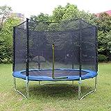 Teamyy 305cm Outdoor Garten Trampolin mit Sicherheitsnetz Ladder Jumper Gymnastic Spaß Übung Rückprall - 3