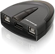 IOGEAR GUB231 2-Port USB 2.0 Automatic Printer Switch - NEW - Retail - GUB231