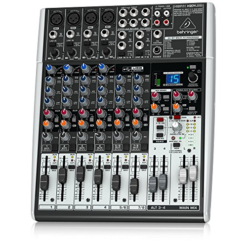 Behringer Xenyx X1204USB Mischpult mit USB-Audio-Interface (12-Kanal, 2/2 Bus) 4-kanal-pc