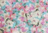 Qualitativ hochwertiger Jersey Stoff mit Blumen in Mosaikmusterung als Meterware zum Nähen von Baby, Kinder- und Damenkleidung, 50 cm