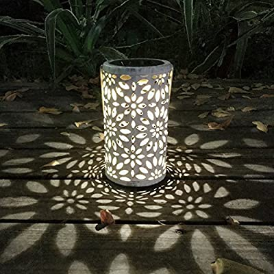 Demiawaking Solar Lights Outdoor Garden Lantern LED Hanging Lamp Maple Leaf Waterproof Warm White Night Light for Garden Path Ornaments from Demiawaking