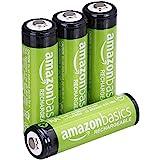 Voorgeladen oplaadbare AA-batterijen 2000 mAh / minimum van Amazon Basics: 1900 mAh [pak van 4 stuks] - buitenkant van de beh