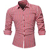 MOIKA Hemd Herren Regular Fit Herren Freizeit Hemden Shirt Tops Mode Kurzarm Men's Casual Dress Slim Fit