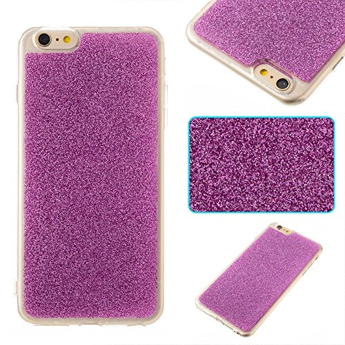 EKINHUI Case Cover Soft Flexible Silikon TPU Gel Cover Case [Anti-Kratzer] Glänzende Glitter 360 ° Full Coverage Back Cover [Shockproof] für iPhone 6 Plus & 6s Plus ( Color : Purple ) Purple