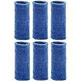 """Unique Sports Wrist Towel 6"""" long wristband (6 Pack), Blue"""
