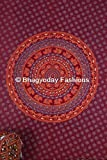 Indian Elephant Mandala Wall Hanging Tapestry, Bohemian Dorm Decor Mandala Tapestries, Hippie Hippy Tapestry, Ethnic Home Decor Mandala Tapestry, Indian Cotton Handmade Bedspread Wall Decor, Picnci Beach Blanket Twin 54x86 By Bhagyoday Fashions