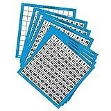Learning- Tableros de Cien números de Escribir y borrar Resources (Set de 10), Color (LER0375)