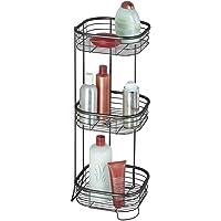 mDesign Étagères auto-portantes de salle de bains ou douche, pour serviettes, savon, shampoing, lotion, accessoires - 3…