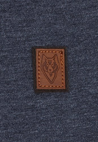 Naketano Male T-Shirt Italienischer Hengst VI Indigo Blue Melange