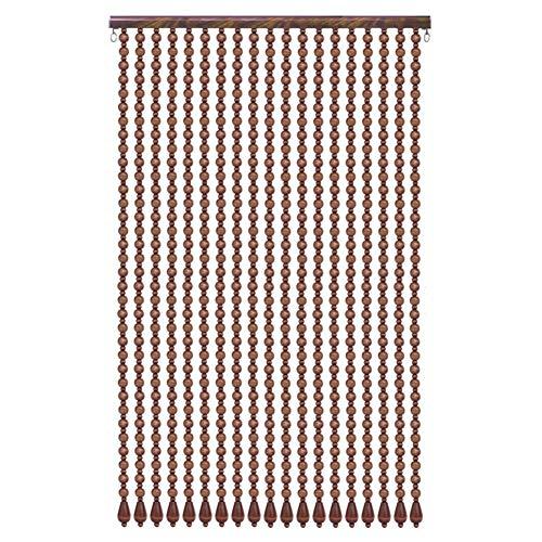 4-panel-holz-türen (WUFENG Vorhang Perlenvorhang Reines Massivholz Tür Vorhang Eingang Abgeschnitten Dekoration Vorhang Hängen, 4 Farben Mehrere Größen Anpassbar Vorhänge (Farbe : C, größe : 90x200CM))