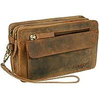Echt Leder Herren Handgelenktasche Herrenhandtasche Brieftasche Geldbörsentasche für Männer