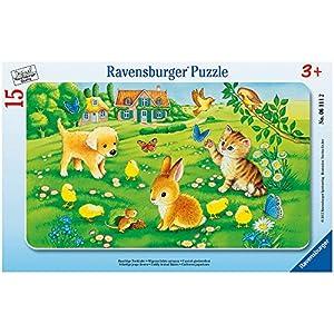 Ravensburger Puzzle 06111 - niños animales mimosos - 15 partes Rahmenpuzzle