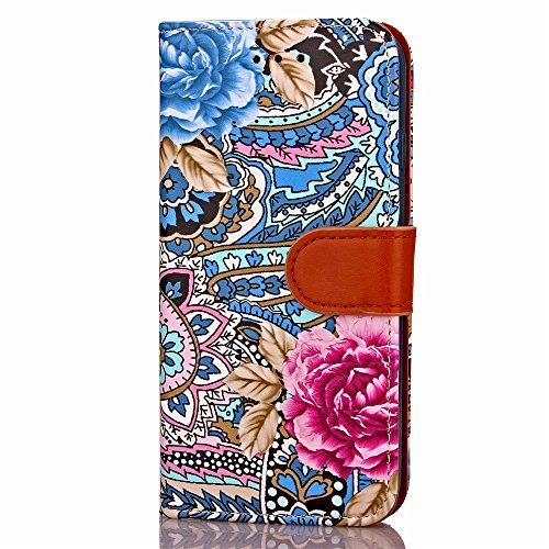 iPhone Case Cover Étui pour iPhone 7 Plus, Étui en Cuir pour Peinture en Couleur Portefeuille Étui pour TPU Housse pour Photo Window Card Cash Slots Étui en Cuir PU pour Apple iPhone7 Plus ( Color : 2 1