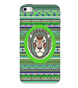 PrintDhaba Zodiac Leo D-3509 Back Case Cover for APPLE IPHONE 5S (Multi-Coloured)