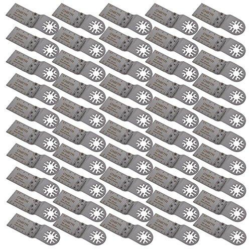 cnbtr Silber 32x 40mm Edelstahl Sägeblätter Pendelndes Multitool Präzisions Universal Sägeblätter Set 50Stück
