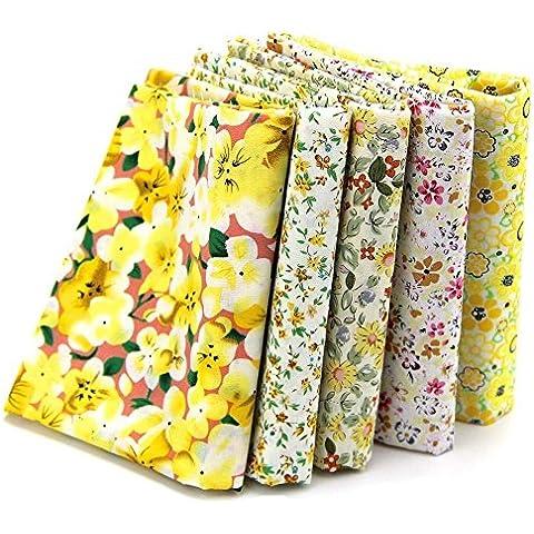 KAMIERFA Series 8unidades con diferentes telas de algodón precortadas para Patchwork, 46* 56cm